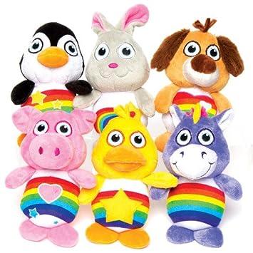 Baker Ross Peluches de Animales arcoíris para niños Bolsas ...