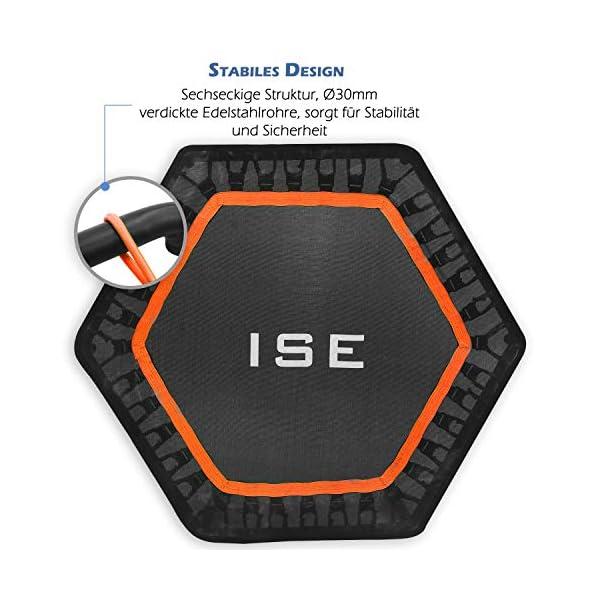 ISE Trampolino Elastico Fitness,Trampolino Mini Indoor con Impugnatura Regolabile in Altezza,Allenamento di Resistenza… 4 spesavip
