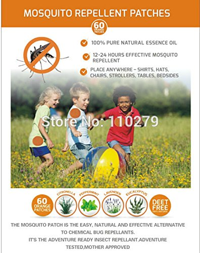Buy Generic 60patches Lot Deet Free Mosquito Repellent Patch For