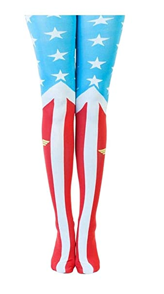 e87a647b6 Amazon.com  DC Comics Wonder Woman Suit Up Costume Sheer Tights  Clothing
