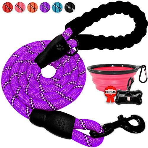 BARKBAY leashes Comfortable Reflective Threads