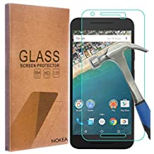 LG (Google) Nexus 5X 2015 Screen Protector, NOKEA [Tempered Glass] with [9H Hardness] [Crystal Clear] [Easy Bubble-Free Installation] [Scratch Resist] (for Google Nexus 5X)