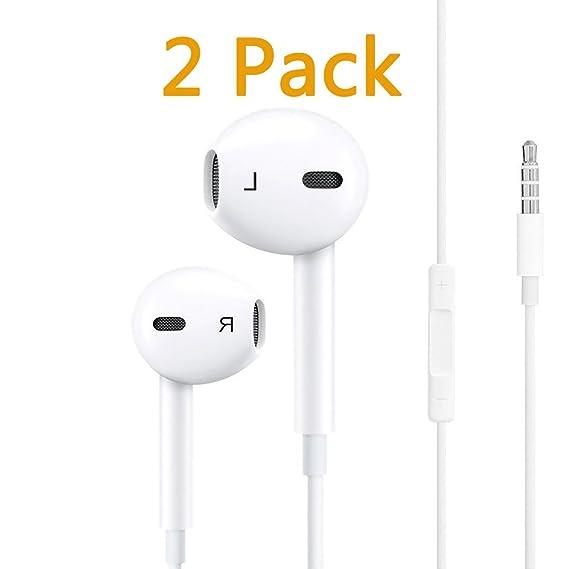 Amazoncom Iphone Earphones 2 Pack Headphones Earbuds With