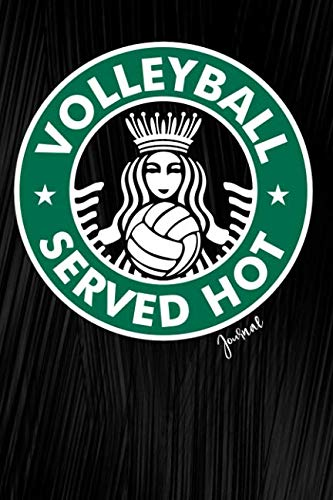 Volleyball Served Hot Journal: Sports Notebook, Diary Or Sketchbook For Girls With Dot Grid ()
