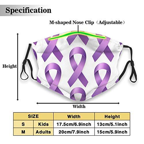 Purple Lupus Awareness Ribbon Pattern Unisex Anti-Pollution Mask Dust Mask with Filter Mask