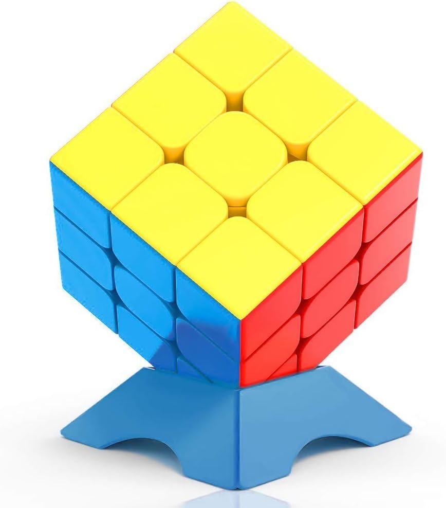 FAVNIC Speed Cube3x3, Cubless Magic Cube qiyi Warrior w 3x3 Speed Magic Cube Puzzle (3x3)