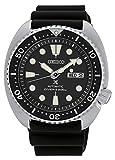 Seiko Men's Automatic Diver Watch with Black Silicone Strap