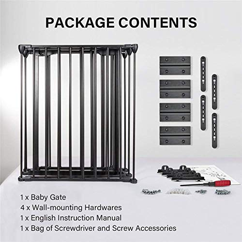 Upgraded Fireplace Safety Fence Baby Gate/Fence BBQ Pet Metal Fire Gate Baby Play Yard with Door 5 Panels Safety Gate for Pet/Toddler/Dog/Cat US Stock by Tenozek (Image #8)