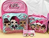 LOL Surprise girl 16'' Backpack + Lunch Bag +Sunglasses