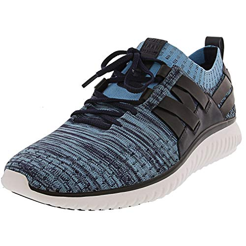 Cole Haan Mens GrandMotion Woven with Stitchlite Blue/Blue Fish Knit Sneaker - 10.5 (Best Running Shoes India)