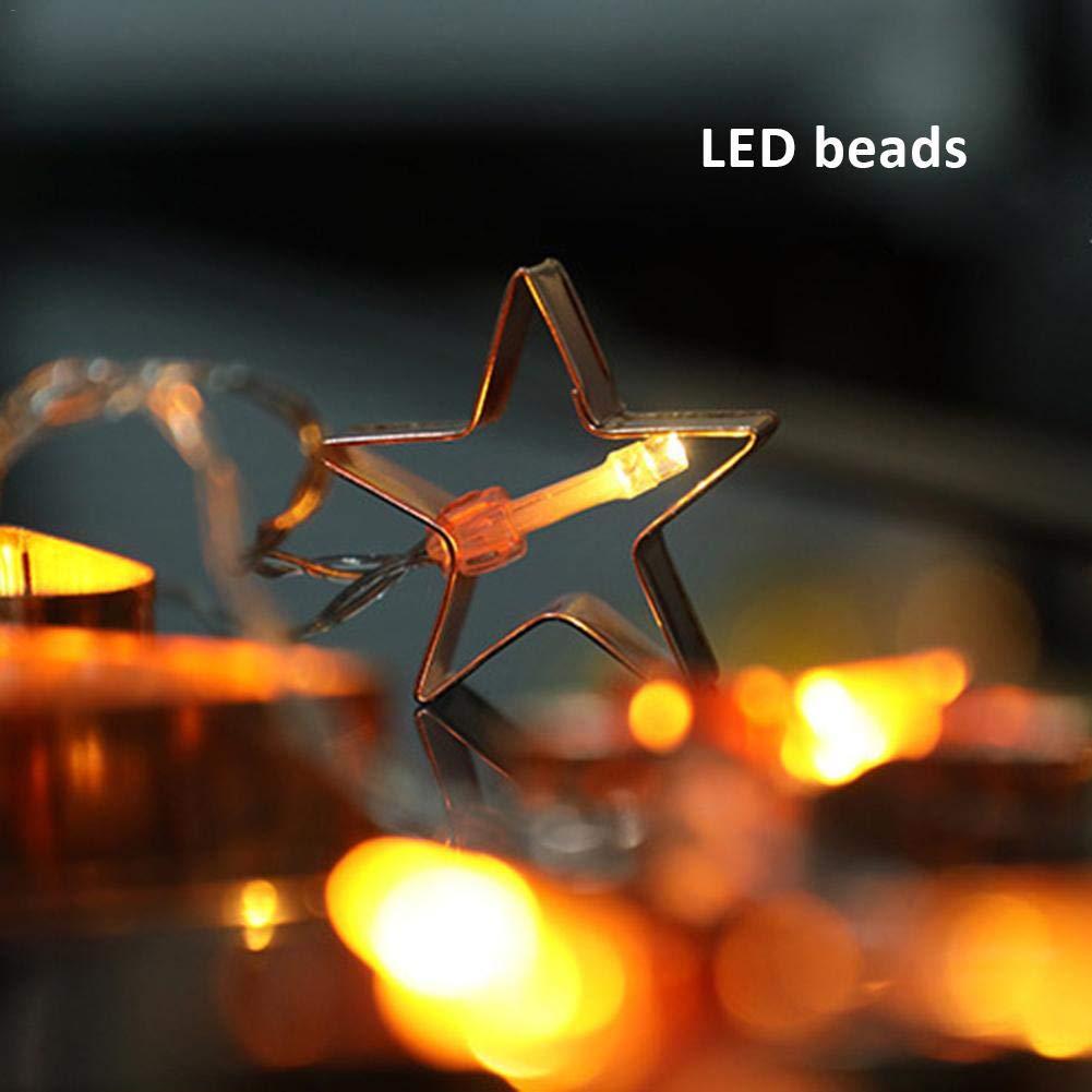 iBaste Weihnachtsbeleuchtung Lichter 10/20 LEDs Lichterkette DIY ...
