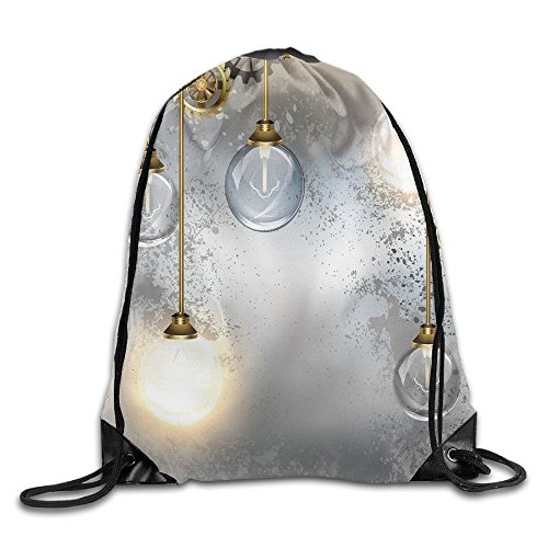 Weiding Steampunk Antique Composition Brass Fastening Round Figures Print Drawstring Gym Sack Sport Bag for Men and Women