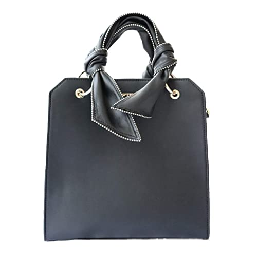 Bolso de bandolera de las mujeres de moda negro Bolso de las señoras Top asa Satchel Messenger Tote Bag Bolsos de cuero de las carteras: Amazon.es: Zapatos ...