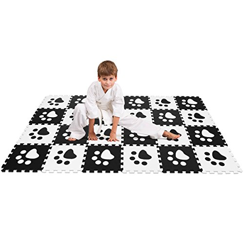 Costzon Puzzle Exercise Mat with EVA Foam Interlocking Tiles EVA Mats Also Fit to Use at Home or Other Ways Needed for Protecting, 24 Pieces -