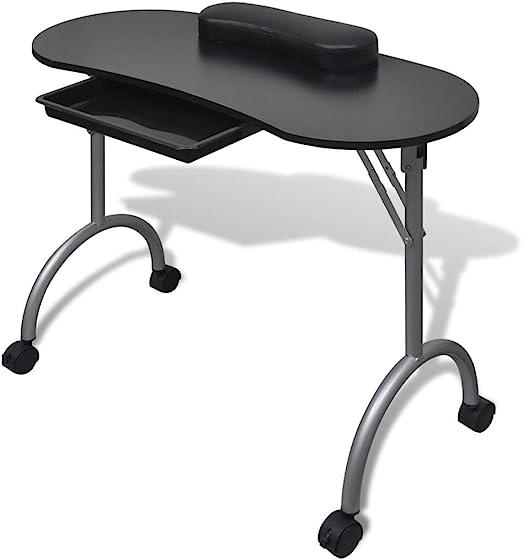 Fesjoy Mesa de Uñas Manicura Mesa de Salon Mesa Plegable Portátil ...
