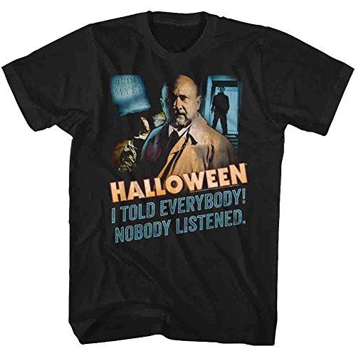 American Classics Halloween Men's Nobody Listened T-Shirt XX-Large Black