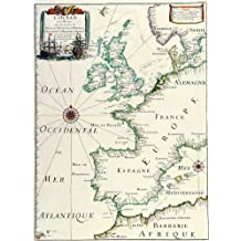 12X16 inch Rare Antique Map Canvas Europe Map