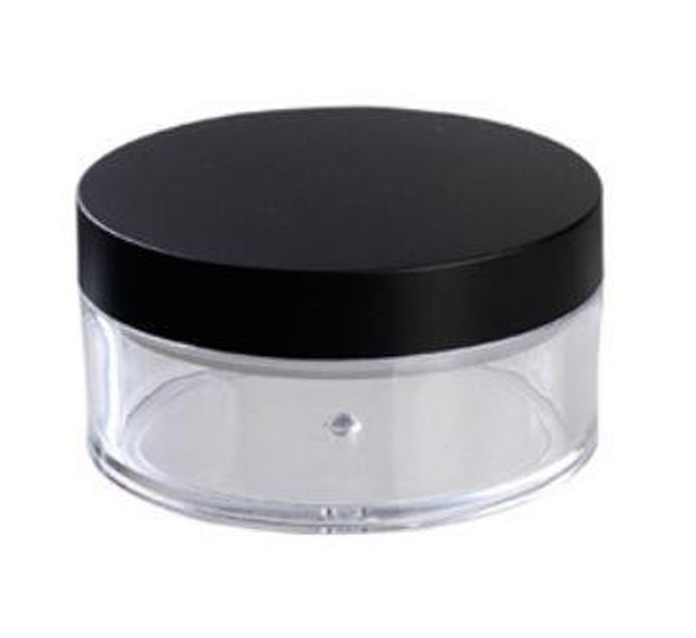 2 Pcs 50G 50ml Plastic Empty Powder Puff Case Face Powder Blusher Makeup Cosmetic Jars Containers With Sifter Lids