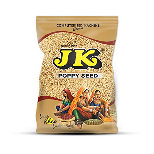 JK Indian Spices/Masala INDIAN WHITE POPPY SEED (Khus Khus/POSTA/POSTO) - 100% Pure and Natural, GMO & Gluten Free, No Added Essence, Color or Preservatives, SPICE 3.53 oz / 100g ()