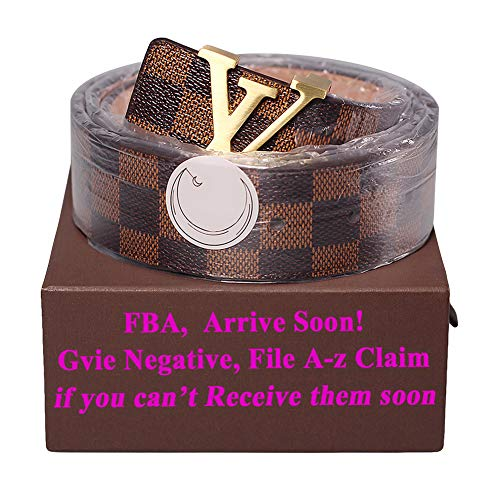 - Fashion Leather Metal Buckle Unisex Women Men Belt Casual Business