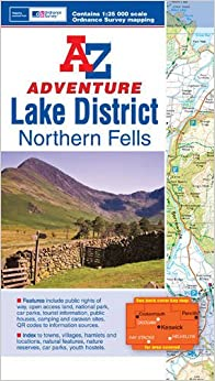 Book Lake District (Northern Fells) Adventure Atlas 1:25K A-Z (A-Z Adventure Atlas)
