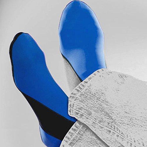 Nufoot Booties Herenschoenen, Beste Opvouwbare En Flexibele Schoenen, Fold And Go Reisschoenen, Yogasokken, Indoorschoenen, Slippers, Royal Met Zwarte Streep, Medium