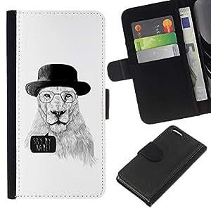 All Phone Most Case / Oferta Especial Cáscara Funda de cuero Monedero Cubierta de proteccion Caso / Wallet Case for Apple Iphone 5C // Funny Meth Cook Lion