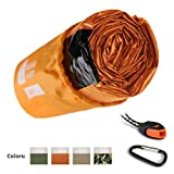 Bearhard Emergency Sleeping Bag Emergency Bivy Sack Ultralight Waterproof Thermal Survival Bivvy Cover with Heat Retention for Camping, Hiking & Emergency Shelter ...