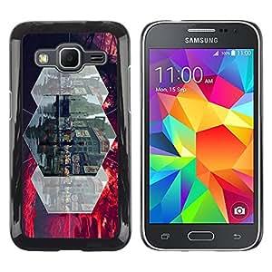 Exotic-Star ( gorod ulica lyudi linii ) Fundas Cover Cubre Hard Case Cover para Samsung Galaxy Core Prime / SM-G360