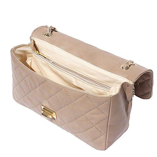 Borsa Florence Pelle Maniglia grande Chiaro Con Trapuntata A Catene Leather Tortora 9605 Di Market qpExwIrp