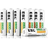 EBL 16 Pack AA 2800mAh Rechargeable Batteries with Battery Storage Case - UL Certified