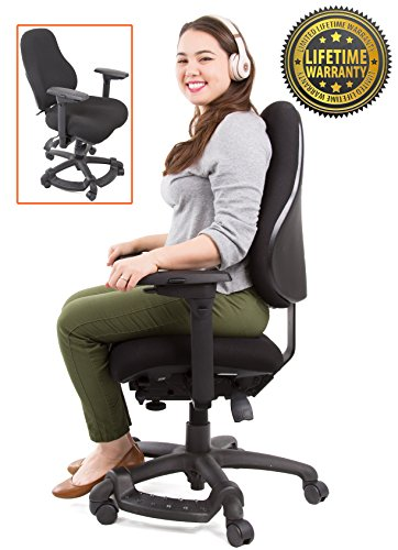 Stand Steady's Neutral Posture 8600 – Comfort & Support for Users up to 275 lbs! High Back Ergonomic Chair/ Office Chair - Extra Cushion - Larger Seat! (Large – All (Seat Minimal Contour Ergonomic Chair)