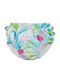 I-Play. Baby Girls' Ruffle Snap Reusable Absorbent Swim Diaper