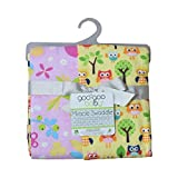 Goo-Goo Baby Miracle Swaddle 2 Pack in Sunny Owls/Wildflower Friends
