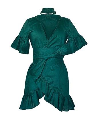 9609617dcacd Damen Boho Strandkleid Übergröße Sommerkleid Rock Mädchen Tief V-Ausschnitt  3 4 Ärmel Knielang Kleider Frauen Kleid Minikleid Kleidung Abendkleider  ...