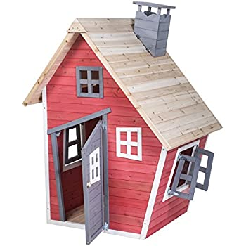 Merax® Children's Wood Playhouse Indoor Outdoor Backyard Environmental Friendly Paint