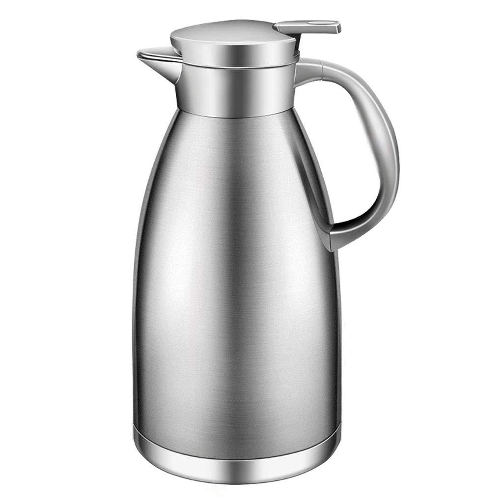 WLHW Trinkflaschen 1.8L Vakuum Krug, hohe Kapazität Kolben isoliert Doppelwand Edelstahl für Tee Kaffee heiße kalte Getränke