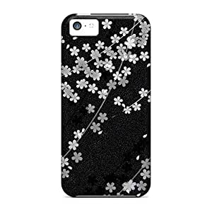 High Quality OscarAPaz Sakura Black Skin Case Cover Specially Designed For Iphone - 5c