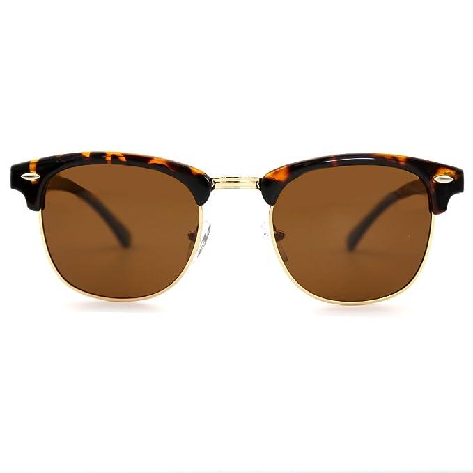 Natwve & Co Clásico Gafas de sol con montura semi sin montura y medio marco Mujer
