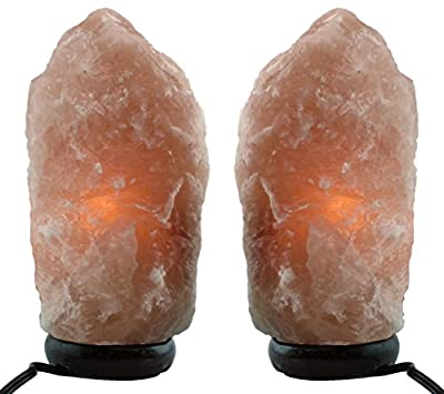 Himalayan Natural Salt Lamp By Waterglider- TWO Pack- Multiple Sizes-