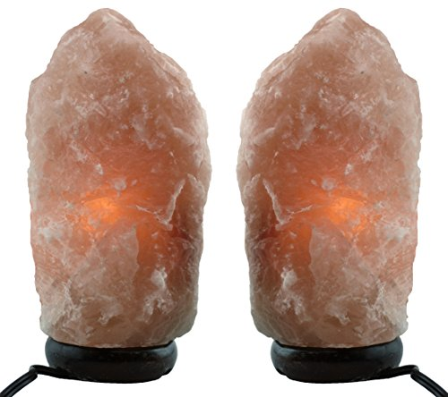 Himalayan Natural Salt Lamp- TWO Pack- Multiple Sizes (7-9 inch)