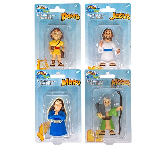 Easter Jesus Mary David Moses Bible Toys Plastic Classic Bible Figurines