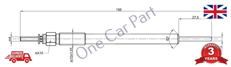 4 x HIGH QUALITY AURIS AVENIS COROLLA RAV 4 2.2D 4D GLOW PLUG PARLEX