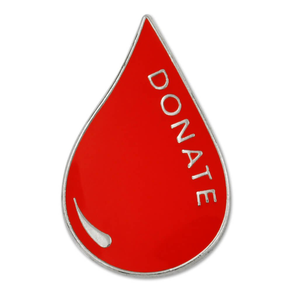 PinMart's Red Blood Donor Awareness Enamel Lapel Pin
