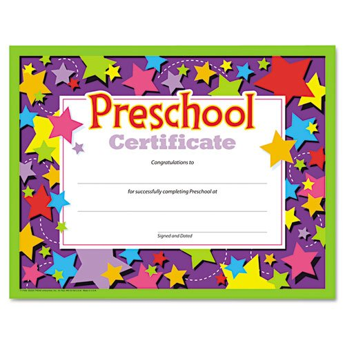Preschool Graduation Diploma - Preschool Certificates (Pack of 30)