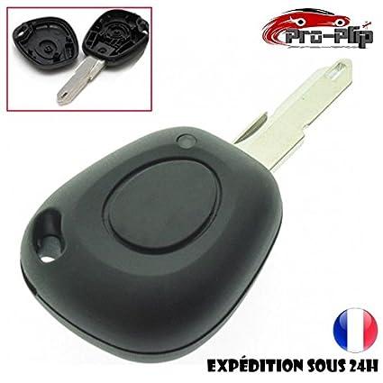 Pro-Plip - Carcasa para llave de 1 botón con pila CR2016 para Renault Clio, Laguna, Megane o Twingo