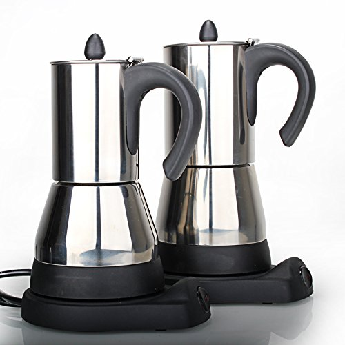 Funnytoday365 Stainless Steel Electrical Moka Pot