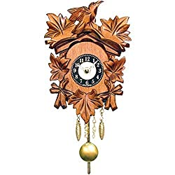 Age-Old Bird and Leaf Motif Cuckoo Clock by Alexander Taron Importer