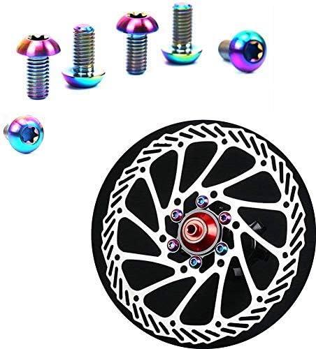 Bike MTB Disc Brake Rotor Bolt Screws Avid Formula Ho?pe Shimano 12 x GR5 Titanium Button Head Bolt Allen Head Gold Polished- M5 x 10mm RacePro/©