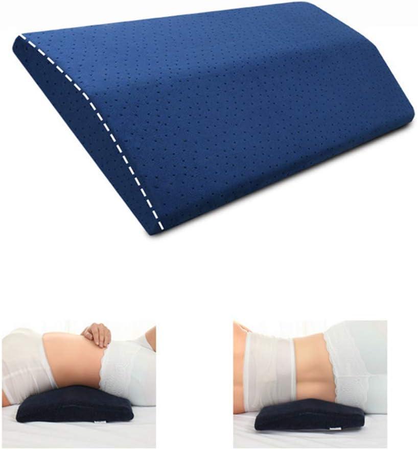 LandJoy Almohada de Soporte Lumbar,Dormir Memoria Espuma Cojín Almohada Larga,Almohada Lumbar para la Parte Inferior de la Espalda para el Alivio del Dolor de Espalda Almohada de Embarazo(Azul)